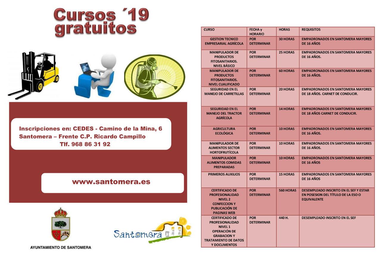 CURSOS CEDES 2019