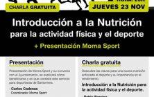Moma Sport y charla nutricion