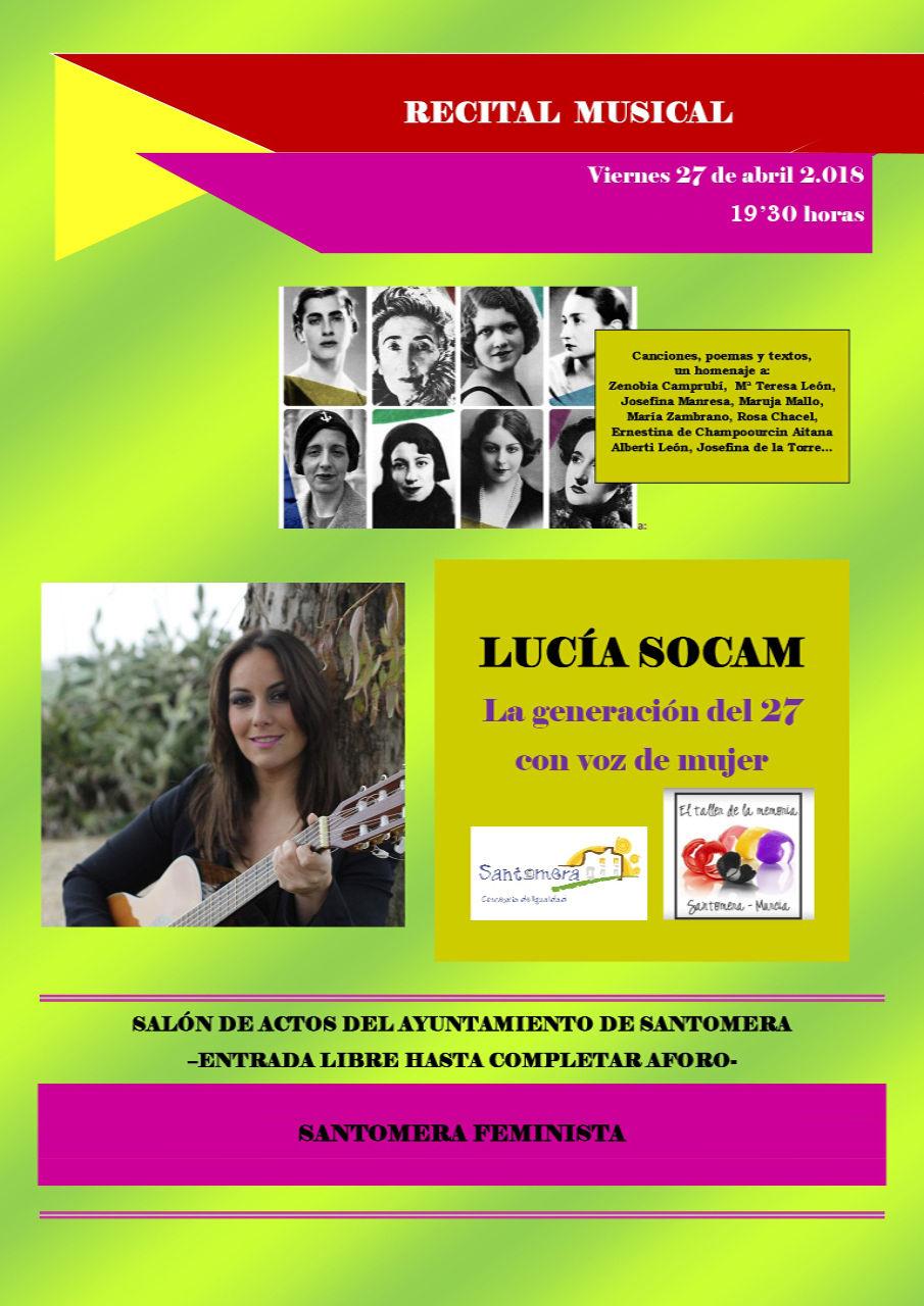 Concierto y recital de Lucia Socam