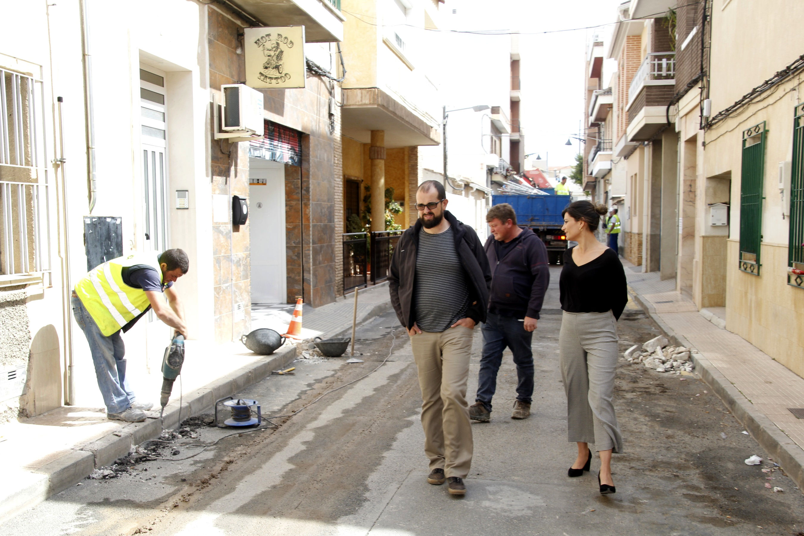 Inicio obras barrio Carretera de Abanilla