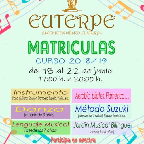 Matriculas Euterpe 2018-2019