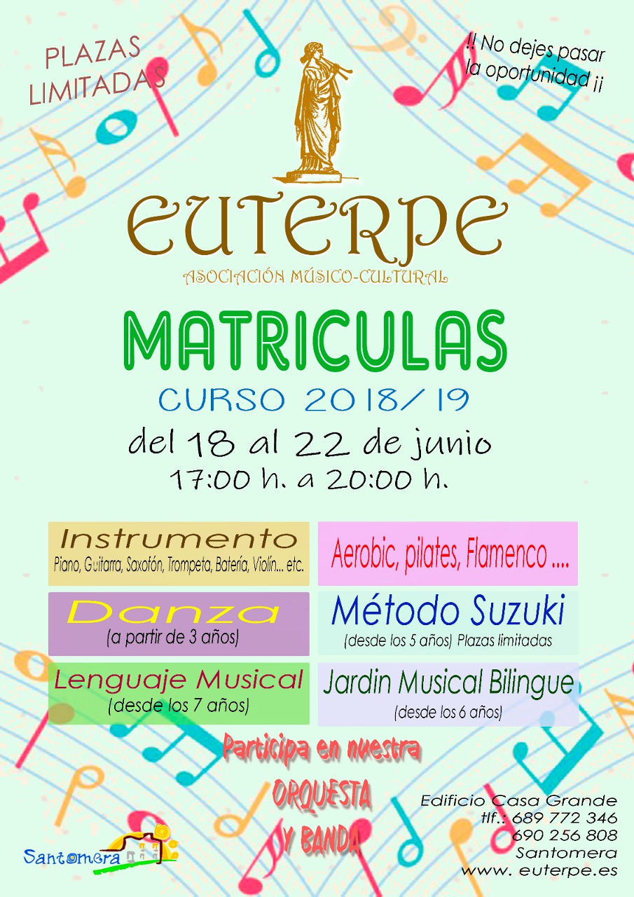 Matriculas Euterpe 2018-2019