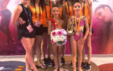 Ritmica cuatro oros Campeonato de España