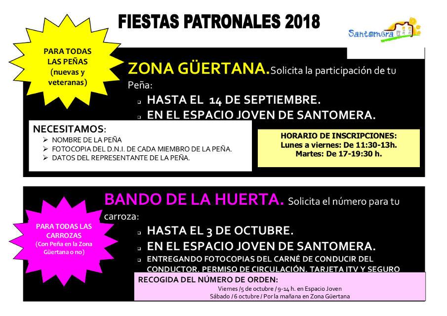 CARTEL INSCRIPCIÓN PEÑAS Y BANDO 2018