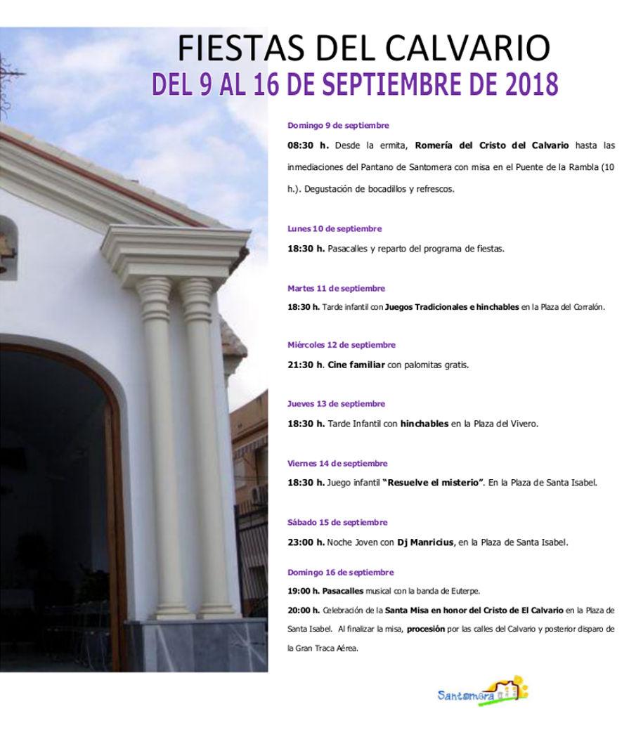 FIESTAS DEL CALVARIO CARTEL 2018 bueno