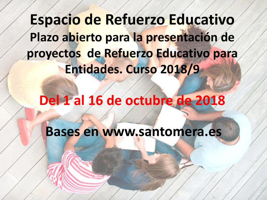 Oferta proyectos refuerzo educativo 2018-19