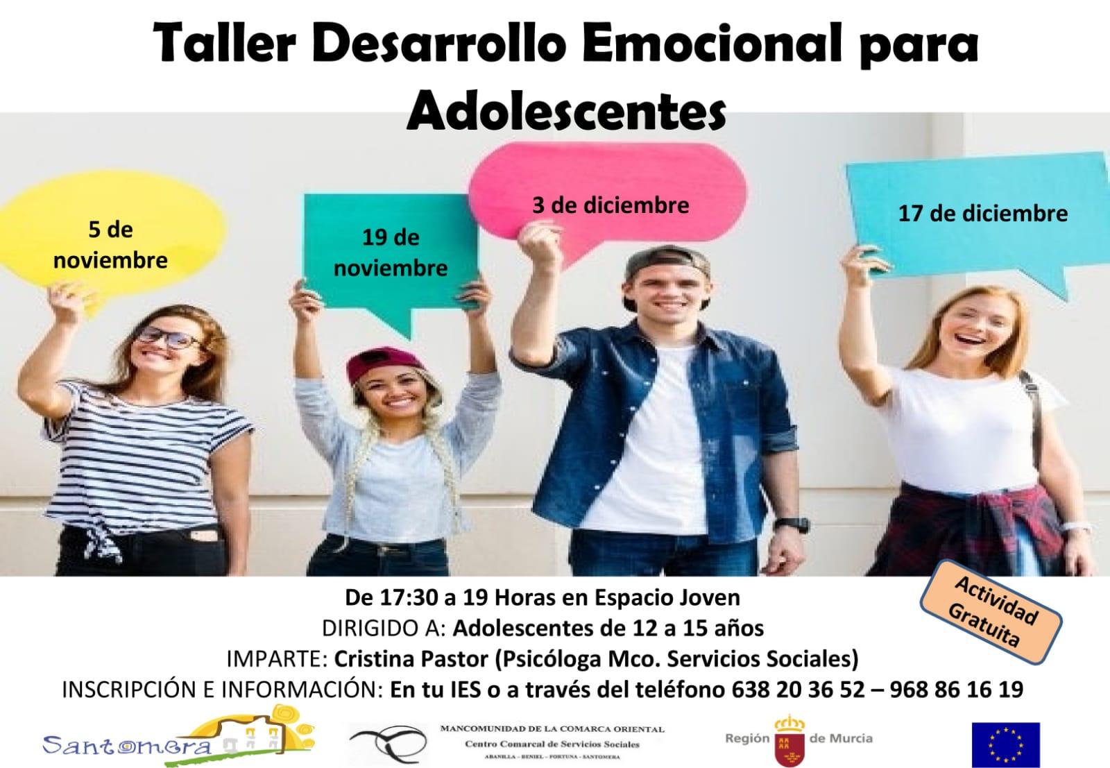 20191105.- Taller crecimiento emocional para jovenes
