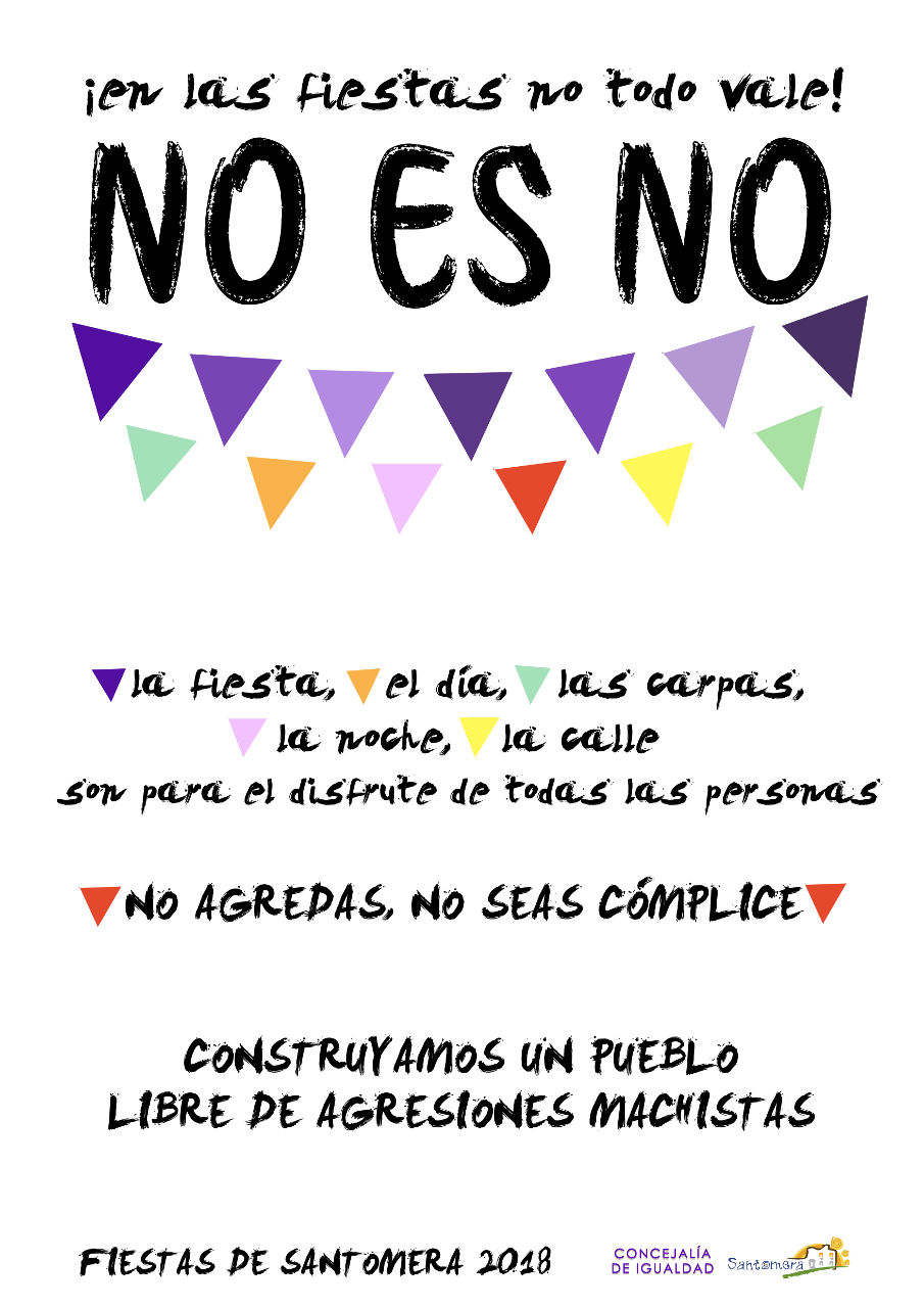 CARTEL NO ES NO 2018