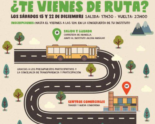 Autobus juvenil centros comerciales, presupuestos participativos