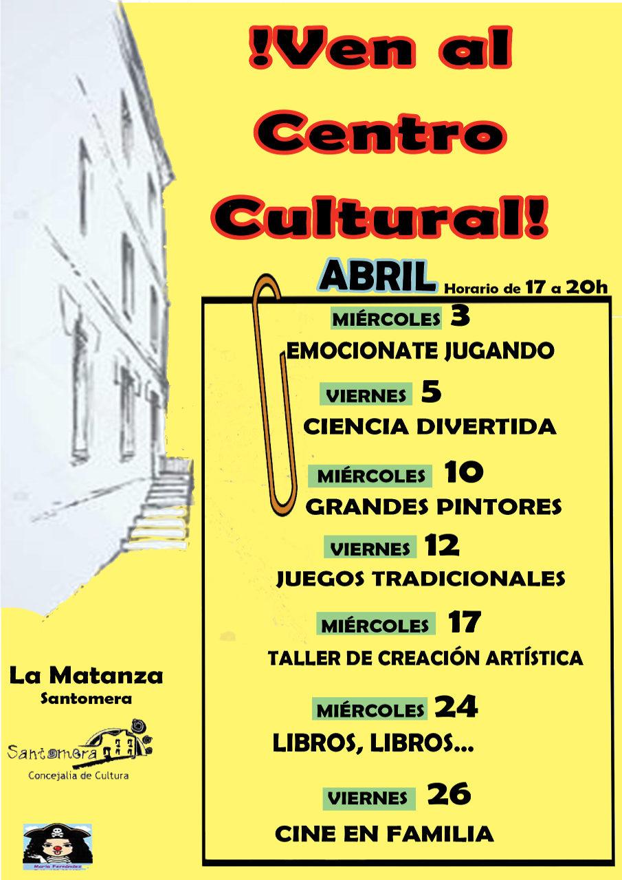 201904.- Programacion abril Centro Cultural La Matanza