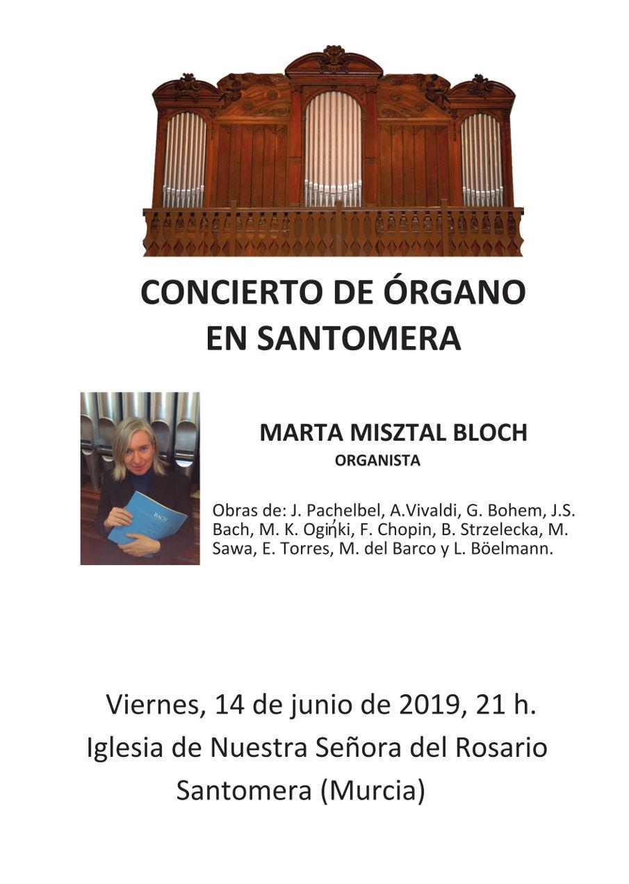 20190614.- Cartel concierto organo Marta Misztal