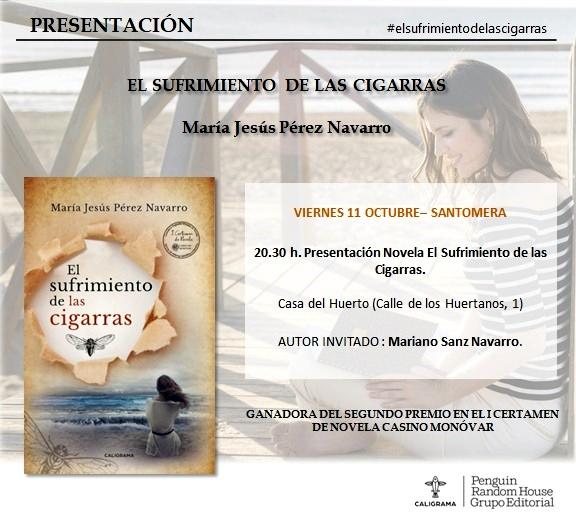 20191011.- Presentacion libro Maria Jesus Perez Navarro, El sufrimiento de las Cigarras