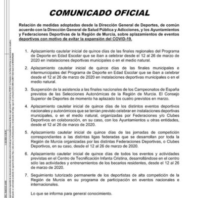 20200311_Comunicado DG Deportes