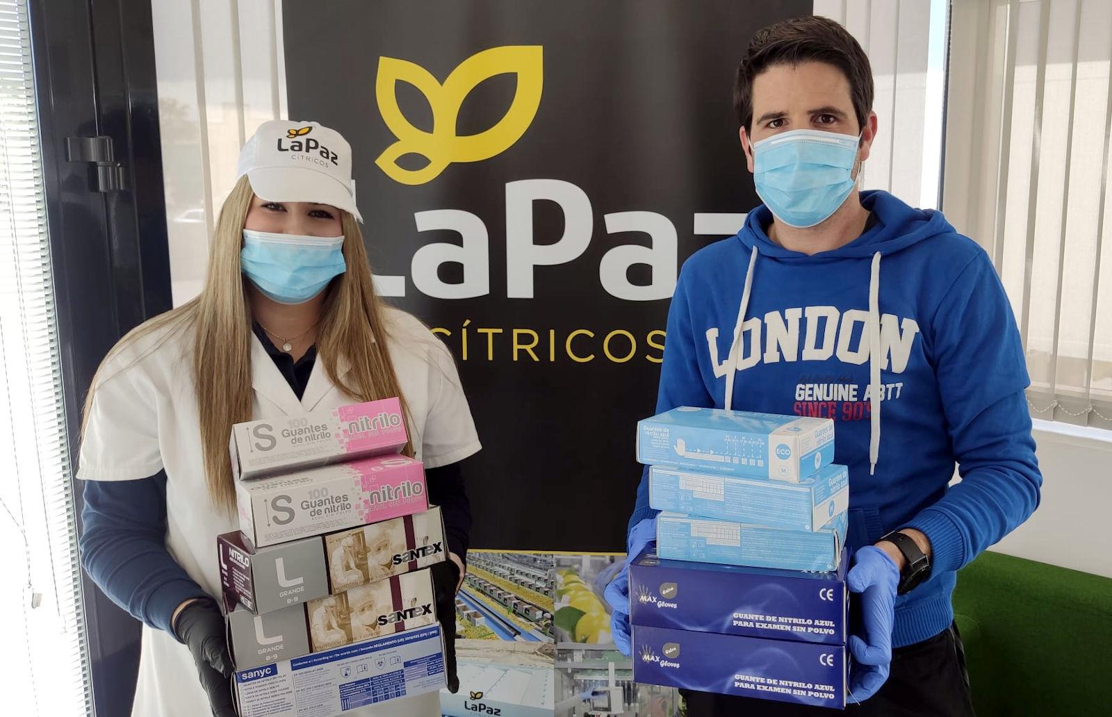 20200427_Donacion guantes Citricos La Paz