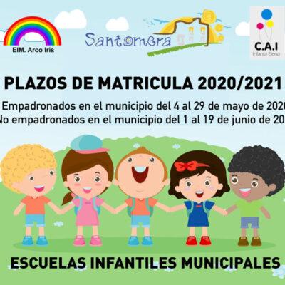 20200430_Matricula escuelas infantiles